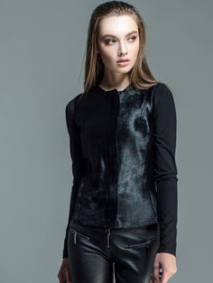 Check out this great pony skin jacket mixed with viscose jersey back and sleeves from F/W 2015-2016 collection.Available at www.wild-zucchini.com and soon available at our new mono-brand e-boutique www.eireneathens.com discount will be applied for Fall /winter 15-16 clothes.