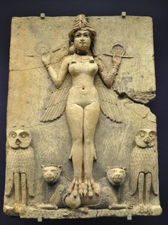 The 'Queen of the Night' Relief, also known as the Burney Relief. Old Babylonian, 1800-1750 BC. Courtesy & currently located at the British Museum, London.