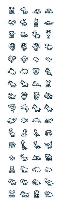 Simple animal doidles