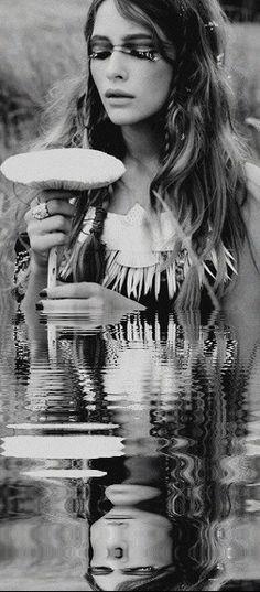 beautiful girl, nature