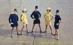 #Lufthansa ladies striking a pose in the 70s.