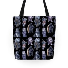 Cutie Souls - This dark souls tote is perfect for those who love horror, dark fantasy, monsters, video games and also...cute, kawaii chibi versions of their favorite dark souls characters and bosses such as the sun bro, Firekeeper, Yhorm the giant, Siegward, Sister Friede and the Nameless King. This monster tote will be cute little reminders of the many, many many brutal ways this game has murdered you and made you cry tears of rage.