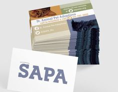 Identity package including -trifold -4x6 Flyer-Business Card for St. Animal Pet Adoptions