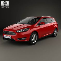 Ford Focus turnier 2014 3d model from humster3d.com. Price: $75