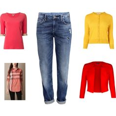 """""""Cheli mid weather jeans silhouette"""" by cheliamoose on Polyvore"""