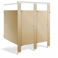 Ampco Toilet Partitions in Baked Enamel, Overhead Brace Design
