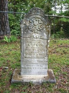 This headstone in Calhoun County MS also bears the name of the victims murderer.