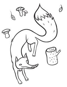 printable fox coloring page free pdf download at httpcoloringcafecom