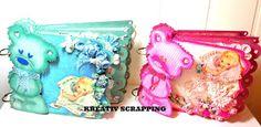Andersens scrapperier: FABSCRAPS - CHIPBOARD - DC43001 -ALBUM - TEDDY - BEAR