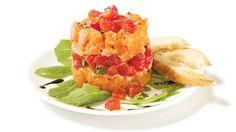 Tartare aux deux saumons, aux fraises et au basilic