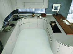 Artica Pedini kitchen with top in Hi-Macs Black Kitchens, Luxury Kitchens, Kitchen Interior, Kitchen Decor, Rich Home, Cuisines Design, Home Design Plans, Modern Kitchen Design, Kitchen And Bath