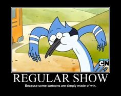 Regular Show: Because some cartoons are simply made of win Cartoon Network, Mordecai Y Rigby, Randy Cunningham, The Mighty Boosh, Cartoon Crossovers, Adventure Time Anime, It Goes On, Cool Cartoons, New Shows