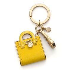 MICHAEL Michael Kors Hamilton Tote Bag Key Fob, Citrus ($38) ❤ liked on Polyvore