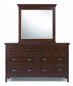 Harrison Dresser and Landscape mirror