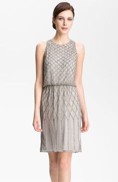 Adrianna Papell Beaded Blouson Dress from Nordstrom - out of my budget but so beautiful.