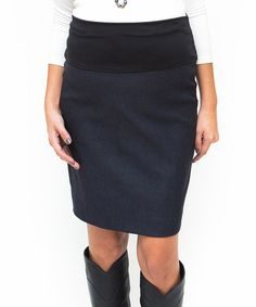 This Blue Mid-Belly Maternity Pencil Skirt by Debbi O. Maternity is perfect! #zulilyfinds
