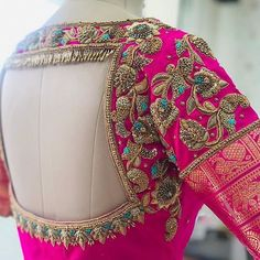 Image may contain: one or more people Wedding Saree Blouse Designs, Best Blouse Designs, Pattu Saree Blouse Designs, Blouse Neck Designs, Mehandi Designs, Shirts & Tops, Logo Branding, Traditional Blouse Designs, Hand Work Blouse Design