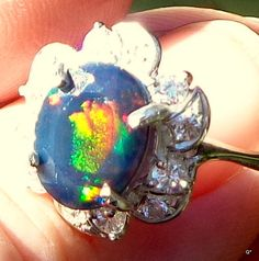 Hey, I found this really awesome Etsy listing at https://www.etsy.com/listing/217636579/sale-black-welo-opal-ring-natural