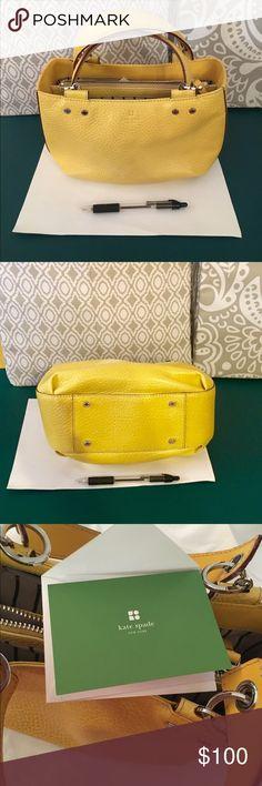"Kate Spade Mustard leather bag Kate Spade Mustard color leather bag NWOT.      9.75""x5.5""x4"" kate spade Bags Mini Bags"
