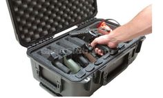 Waterproof Gun Case Airline Approved Pistol Case Travel 6 Pistol Case with Acces #CaseClub