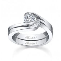 Barkev's - Diamond Bridal Set - 3853SW - also available in platinum. This site has many more swirl styles as well.