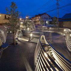 The Kikuchi Pocket Park by Takao Shiotsuka on Site B–Yokomachi, Kumamoto, Japan #architecture