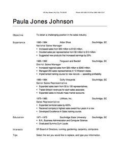 Sample Of Professional Resume Design