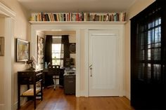 Shelf like this over walk-in closet and nook? Closet would be a few inches shorter inside but just for a bit