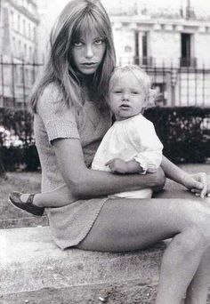 Jane Birkin and Kate Barry {1968}