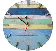Visuall - Reclaimed wood retro wall clocks by Bambeco, 6/22/2012