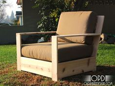 Ana White | Build a Bristol Outdoor Lounge Chair | Free and Easy DIY Project and Furniture Plans, patio