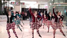 Scottish Highland Dancers performing at Metropolis at Metrotown in Burnaby, British Columbia for a cultural celebration.