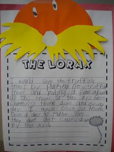 The Lorax writing