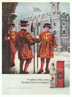 Beefeater The Gin of England 1971 Ad Picture