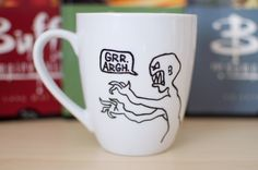 Hand Painted Mug with Joss Whedon Mutant Enemy
