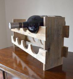 Wood Pallet Wine Rack / Reclaimed Wood Wine Rack by TheRustyWheel, $65.00