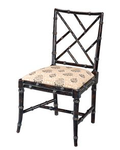 Chinese chippendale Dining Side Chair Sarreid (Just side chair) in Black on sale too. gght19f