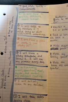 """Seven good study habits - pt 1: This is what the final product will look like with things folded. (Information students will compile while watching """"Seven Good Study Habits"""" on United Streaming."""