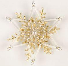 0ea2efe3e Czech Long Bugle Beads - Atlas Stars Christmas Beaded decoration free  tutorial (PDF). Ruční Výrobky Na VánoceNávody ...