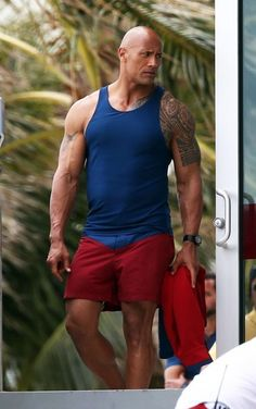 Dwayne Johnson Photos Photos - Stars are spotted on the set of 'Baywatch' filming in Miami, Florida on March 07, 2016. - Stars on the Set of 'Baywatch'