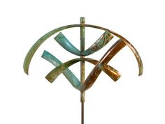 """Earth"" Kinetic Wind Sculpture by American Artist, Lyman Whitaker. Beautiful Art designed for Outdoors and Gardens! Check us out on www.windsculptures.ca"