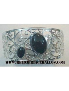 brazalete de plata y azabache ref H12464