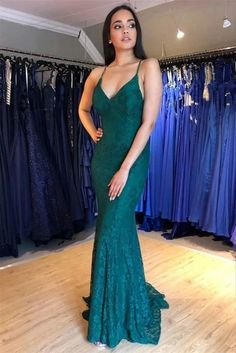 Mermaid Lace Long Prom Dresses Formal Evening Gowns vp7514 by VestidosProm, $140.78 USD
