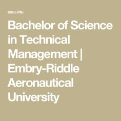 Bachelor of Science in Technical Management | Embry-Riddle Aeronautical University