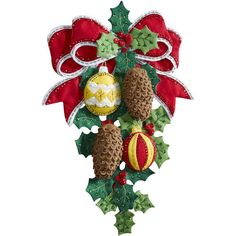Bucilla-Wall Hanging Felt Applique Kit. Festive designs, quality materials and generous embellishments continue to make Bucilla felt kits a favorite stitchery tradition. This package contains stamped