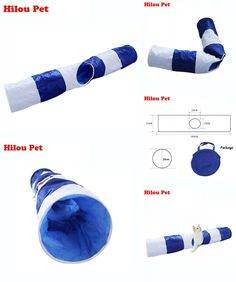[Visit to Buy] Funny Pet Tunnel Cat Play Tunnel Blue Foldable 1 Holes Cat Tunnel Kitten Cat Toy Bulk Cat Toys Rabbit Play Tunnel 160CM #Advertisement