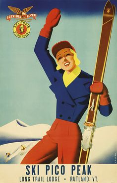 Gorgeous Vintage #Posters from the Golden Age of Skiing #illustration