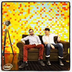 DIY Wallpaper with Post-Its? Yes. It's an Intel Post-It Wallpaper! Check out what else is possible, click on it!