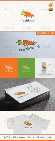 fresh food logo template food logo templates