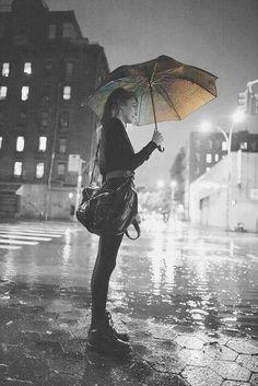 Rainy days photography black and white